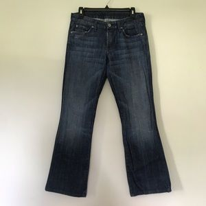 7 For All Mankind dark wash denim jeans size 28.